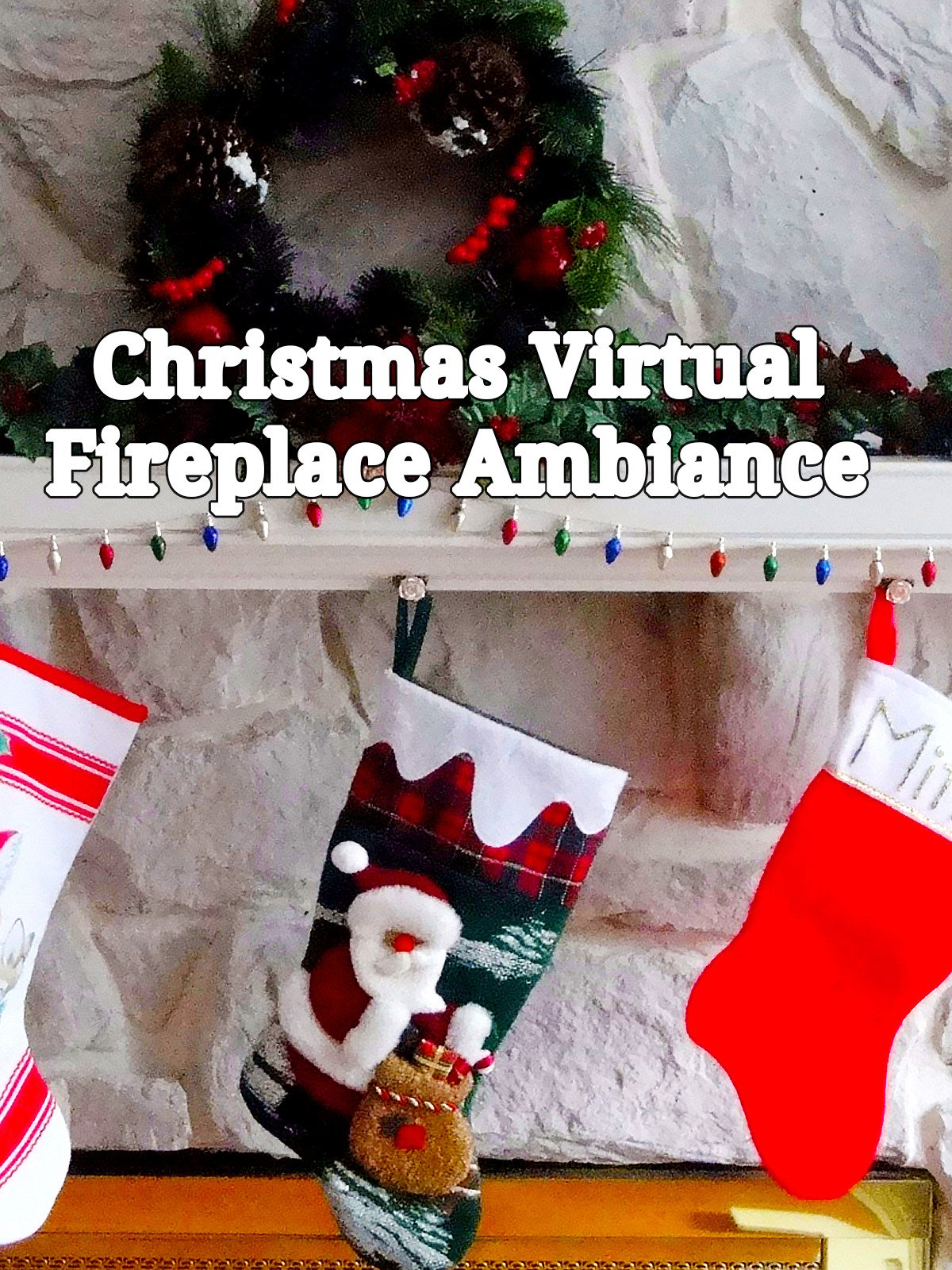 Christmas Virtual Fireplace Ambiance