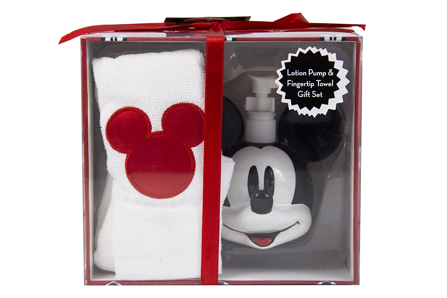 Mickey Mouse Hand Soap Pump and Cotton Hand Towel Gift Box Set