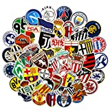 YOUTHSTORE Football Club Logo Laptop Stickers (50PCS) Soccer Club Stickers Water Bottle Luggage Snowboard Bicycle Skateboard Decal Teens Adult Waterproof Aesthetic Stickers(Football 50) (Color: Football 50)