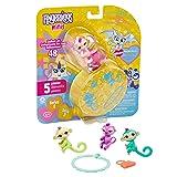 WowWee Fingerlings Minis - Series 2 - 5 Piece Blister - 3 Figures Plus Bonus Bracelet & Charm