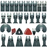 68 x TopsTools FAK68SK Fast Fit OMT Mix Blades for Dewalt Bosch Fein Makita Milwaukee Craftsman Chicago Ridgid Ryobi Rockwell (HyperLock) Porter Cable Multi Tool Accessories (Color: Red-1042, Tamaño: R-1042)