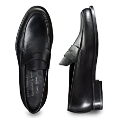 Enzo Bonafe Penny Loafer: Black
