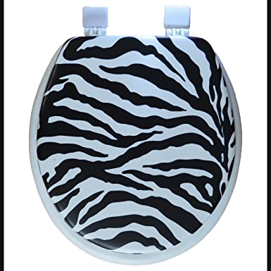 Zebra Toilet Seat And Cover Zebra Decorations Party
