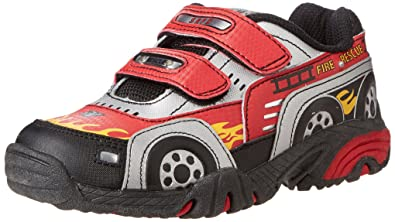Kids' Classic Stride Rite Vroomz Fire Truck 2.0 Lighted Sport Shoe Clearance