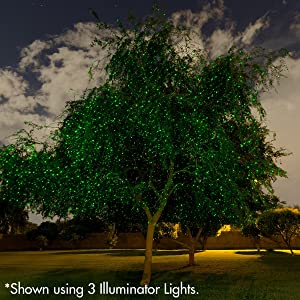 Sparkle Magic Green Laser Light 3.0 Series, Landscape Laser Lights, Christmas Laser Lights by Manufacturer (Color: Green, Tamaño: 3.5 x 3.5 x 6.5 inches)