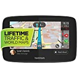 TomTom GO 620 6-Inch GPS Navigation Device with Free Lifetime Traffic & World Maps, Wifi-Connectivity, Smartphone Messaging, Voice Control and Hands-free Calling (Tamaño: 6