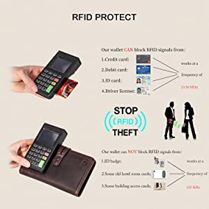 b7b48412d Travel Wallet with RFID Blocking Awesome Passport Wallet Credit Cards  Holder Document Organizer Genuine Leather (Color  ...