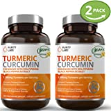 2 Bottle Bundle Turmeric Curcumin Capsules – 120 Count 1100mg Serving, Tumeric Supplement Organic with Piperine Black Pepper Extract, Anti Inflammatory Back Pain Relief and Weight Loss Support (Tamaño: 240 Capsules)