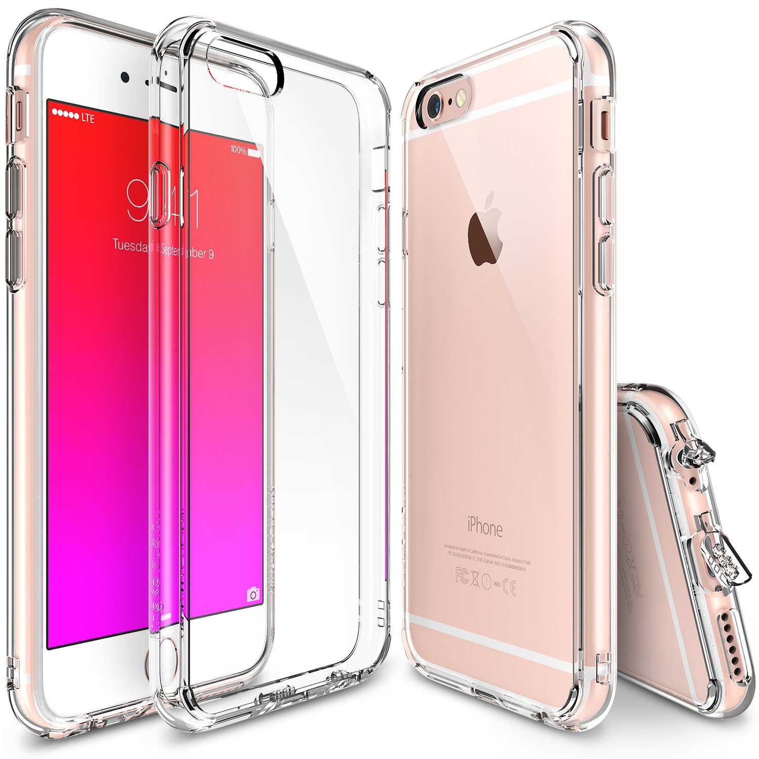 iPhone 6S 4.7'' Case, Ringke FUSION ** Shock Absorption Technology**(FREE Screen Protector)(CRYSTAl VIEW) Crystal Clear PC Back Drop Protection TPU Bumper Case for Apple iPhone 6 (2014) / 6S (2015)