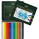 Faber-Castel FC117524 Albrecht Durer Artist Watercolor Pencils in A Tin (24 Pack), Assorted (Color: Multi)