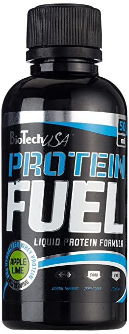 BioTech USA PROTEIN FUEL Liquid 12x50ml Apple Lime, 1er Pack (1 x 600 ml)