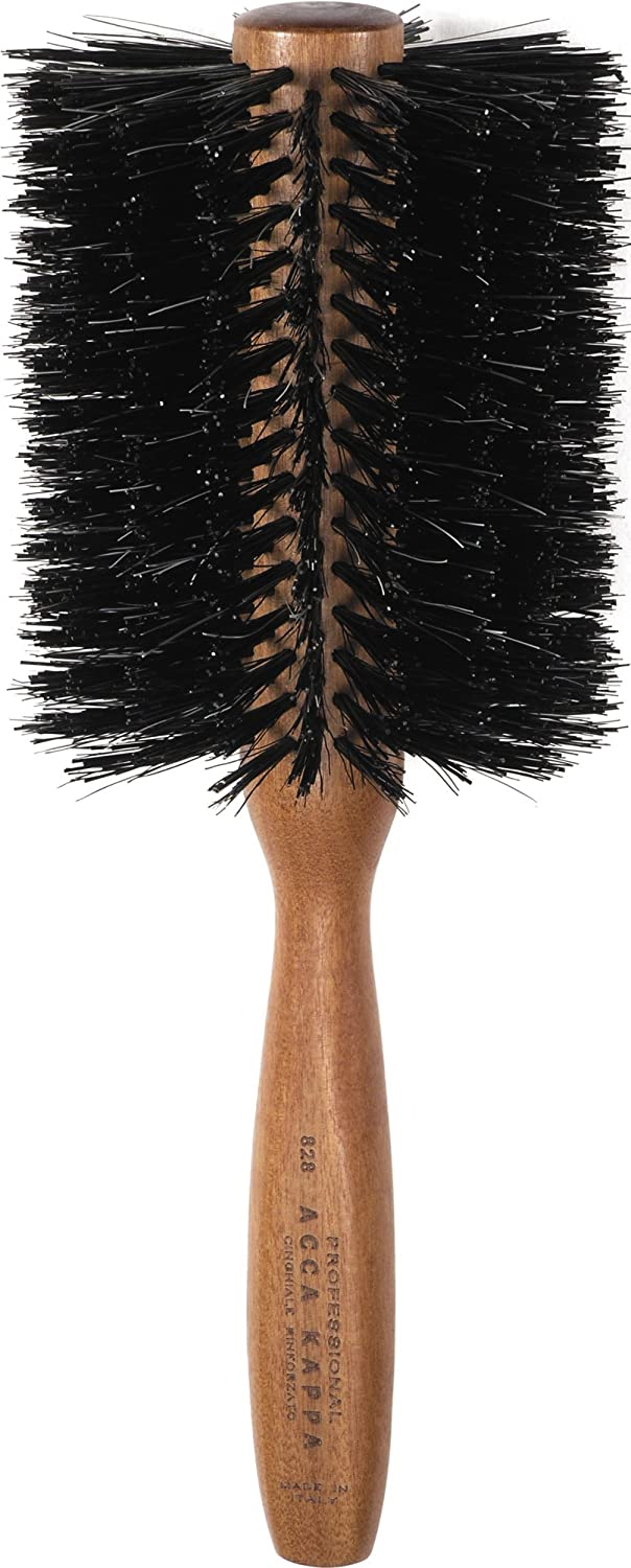 Acca Kappa Professional Pro Hair Brush, Round, Boar Bristle/Nylon, X-Large keep высокие кеды
