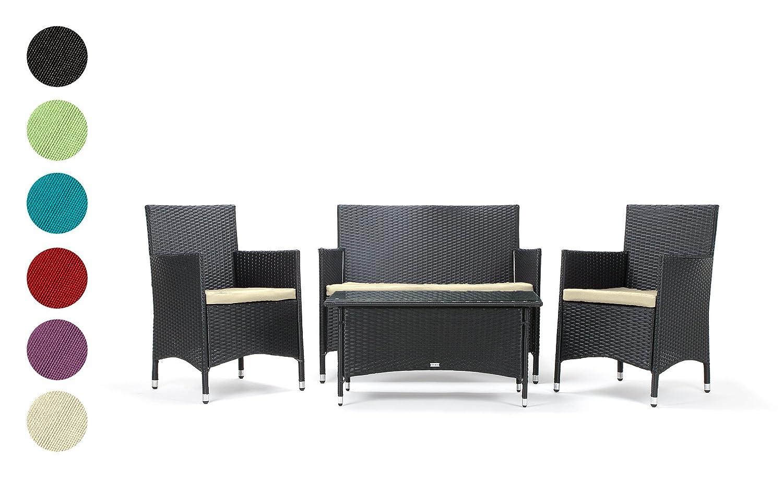 avignon gartenm bel ecksofa schwarz orange set g nstig. Black Bedroom Furniture Sets. Home Design Ideas