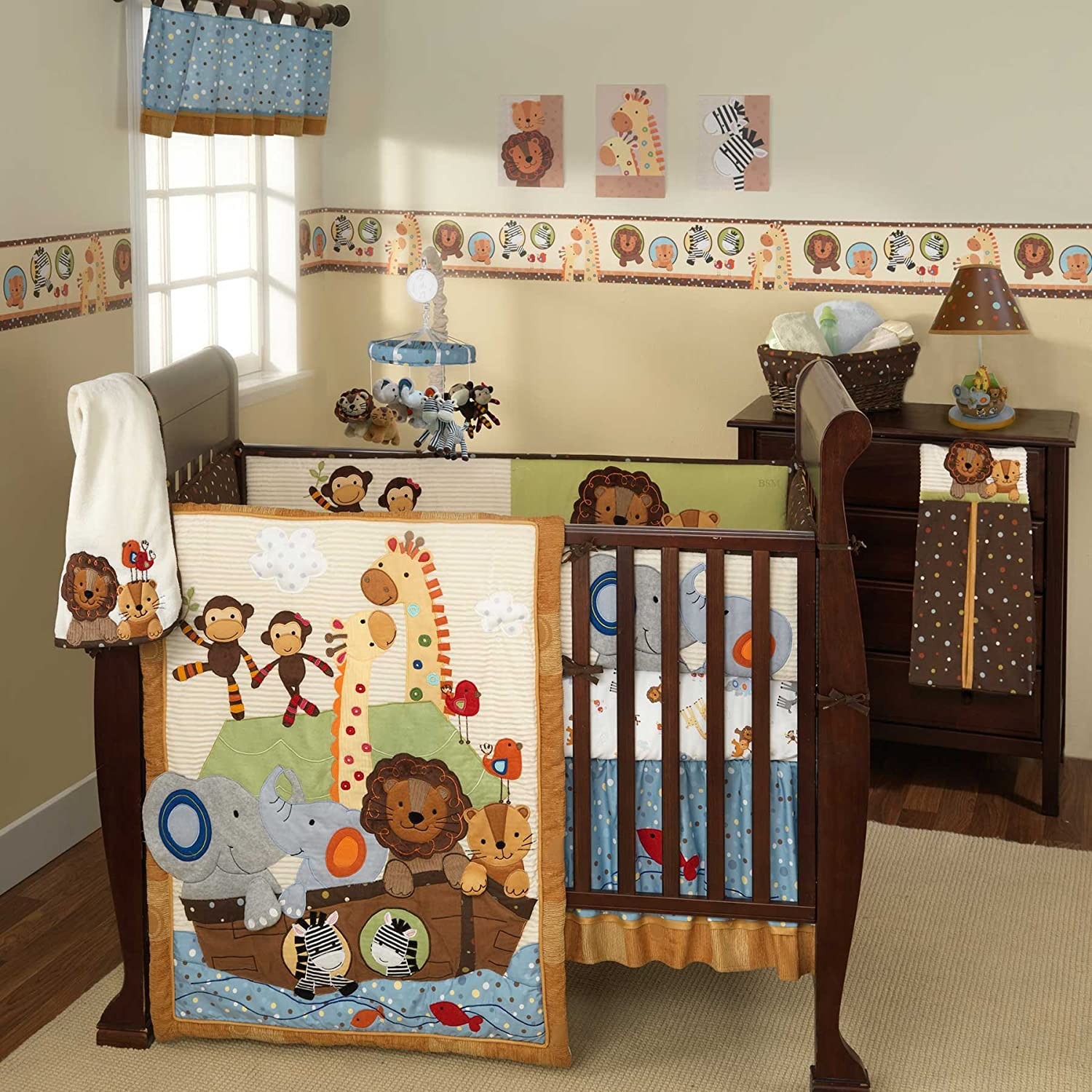Lambs and Ivy SS Noah Crib Bedding