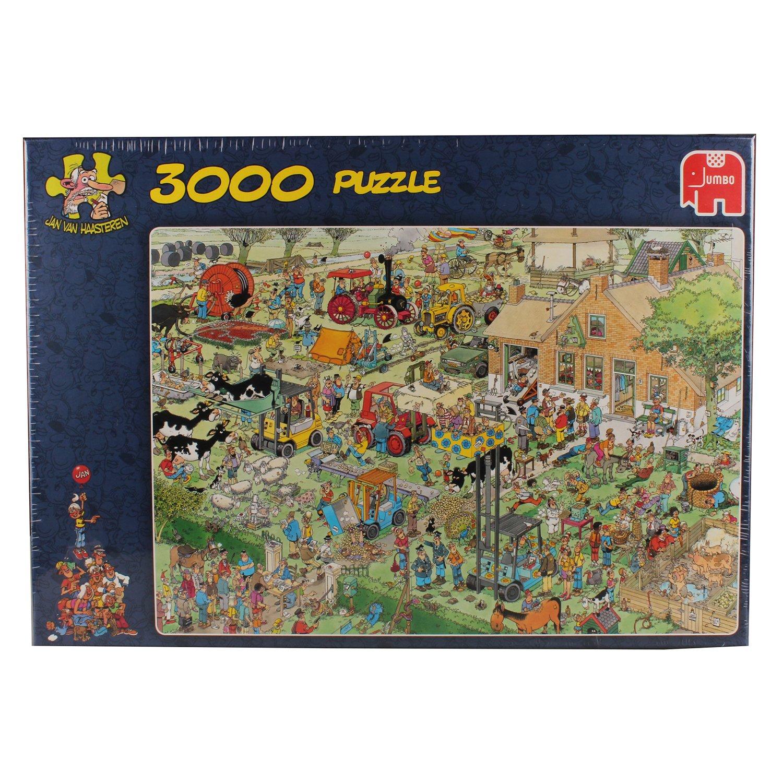 jumbo jan van haasteren farm visit jigsaw puzzle 3000. Black Bedroom Furniture Sets. Home Design Ideas