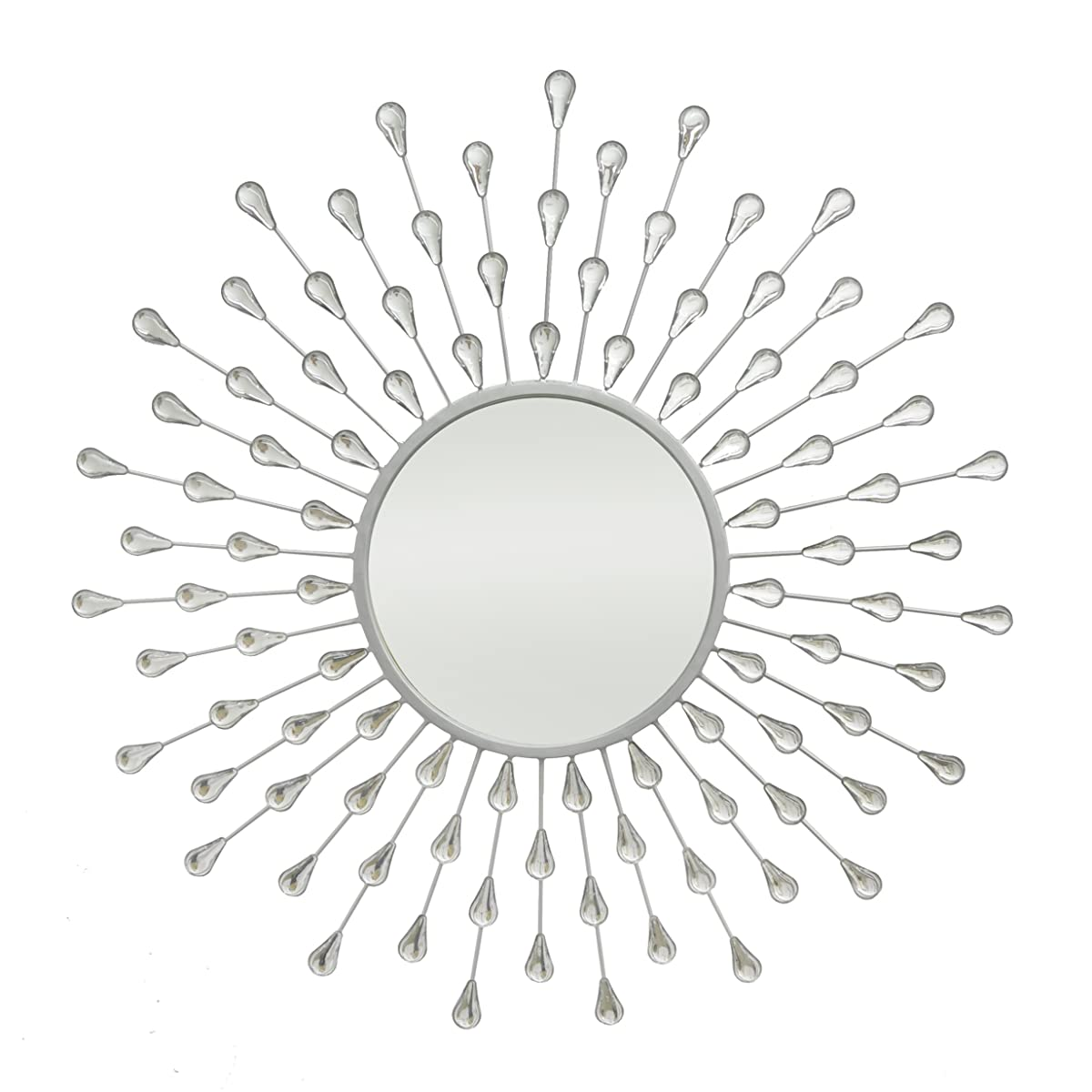 Three Hands Corporation 17560 Starburst Jeweled Mirror, Silver