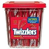 Twizzlers Strawberry Twists Candy, 180 Count (Tamaño: 25.55)
