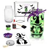 Mason Jar Lantern Craft Kit - DIY Make Your Own Lantern Jar - Craft Project for Kids - Great Gift (Halloween(Witch)) (Color: Halloween(Witch))