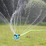 Kadaon Lawn Sprinkler Automatic Garden Water Sprinklers Lawn Irrigation System 3600 Square Feet Coverage Rotation 360°