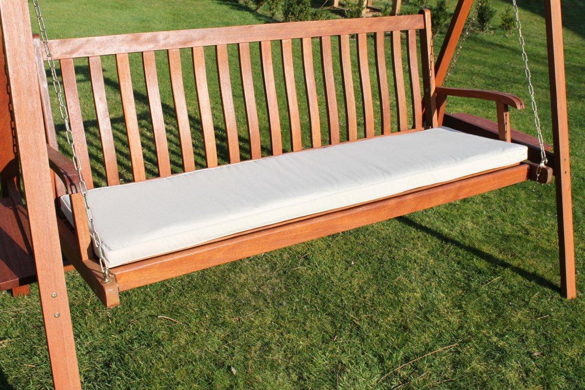 Gartenmöbel-Auflage - Auflage für 3-Sitzer-Hollywoodschaukel oder große Gartenbank in Hellbeige