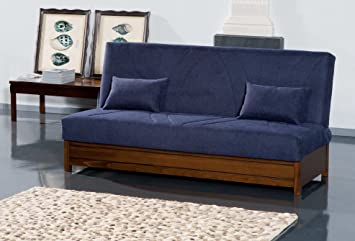 "Sofa bed ""Sebastian"" with container and with choice of coating removable"