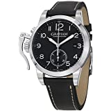 Graham Men's Swiss Automatic Stainless Steel and Leather Dress Watch, Color:Black (Model: 2CXAS.B01A) (Color: black)