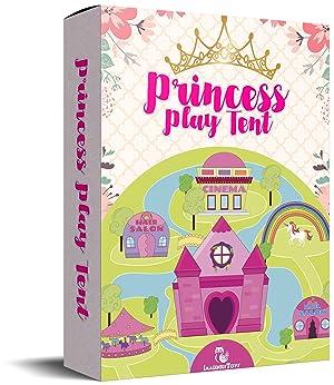 Princess Castle Tent Durable Girls Boys House Toy para Juegos de Interior y Exterior para NiñOs Juegos de ImaginacióN y ImaginacióN Viajes y Almacenamiento FáCiles