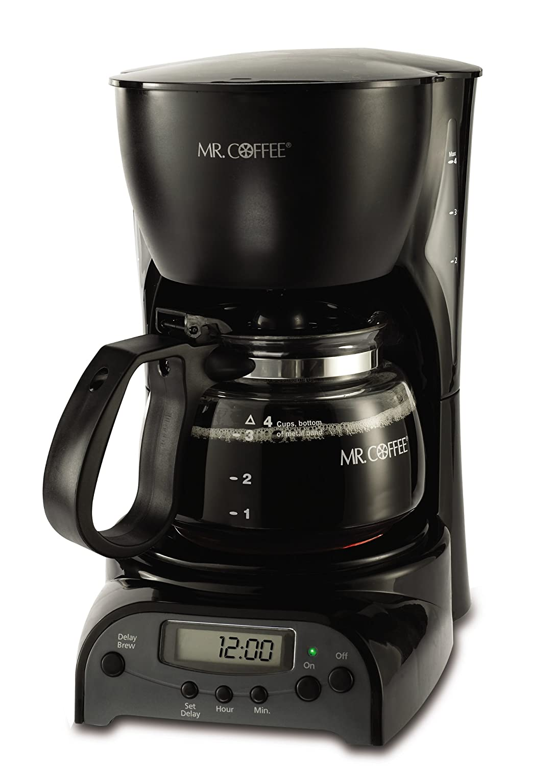 mr coffee drx5 4 cup programmable coffeemaker coffee maker brewer espresso black 72179228134 ebay. Black Bedroom Furniture Sets. Home Design Ideas