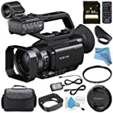 Sony PXW-X70 Professional XDCAM Compact Camcorder62mm UV Filter + 64GB SDXC Card + Carrying Case + Fibercloth + Deluxe Cleaning Kit Bundle (Color: Camcorder, Tamaño: Base)