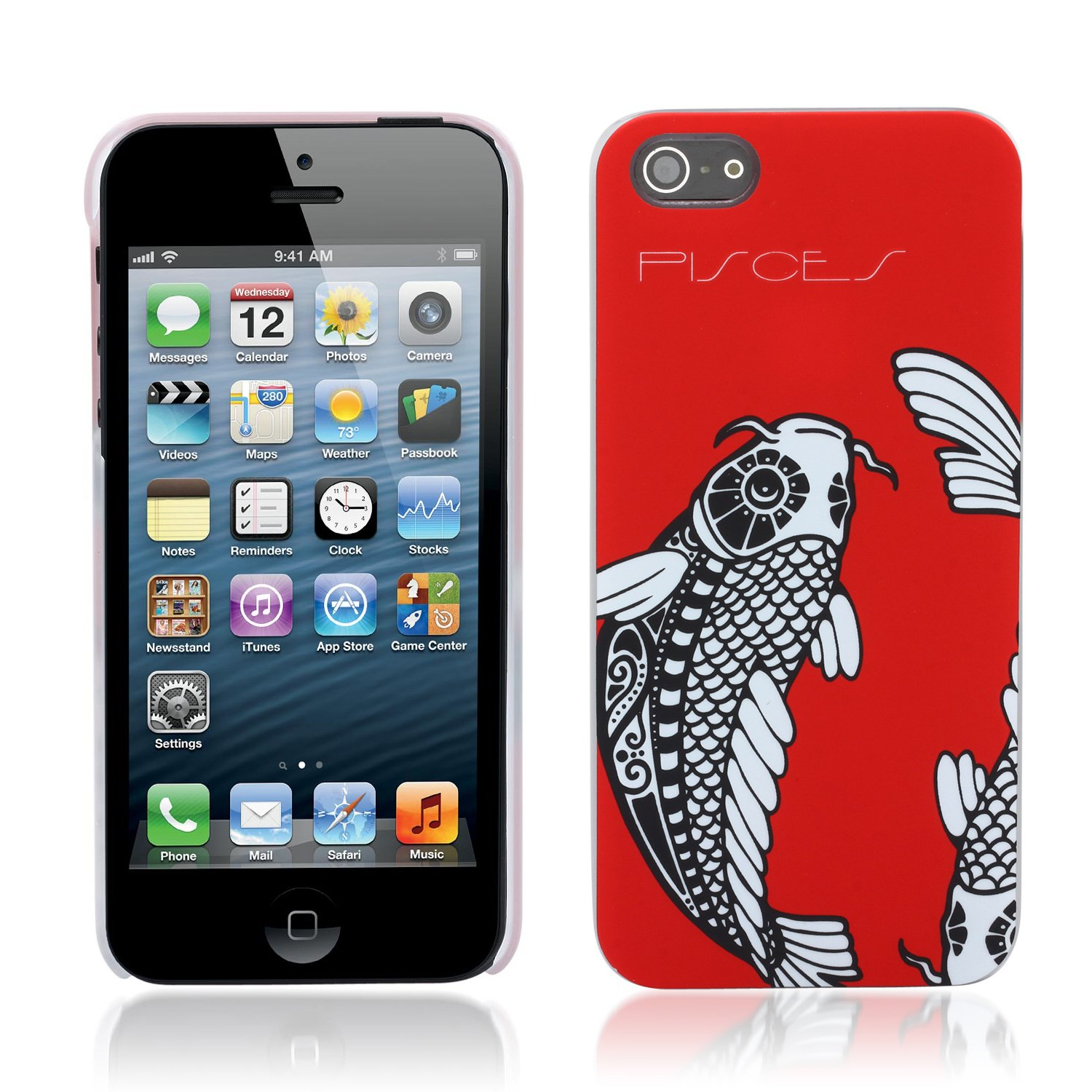 Aduro HOROSCOPE Snap-on Hard Case Cover for Apple iPhone 5 (Pisces)