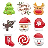 KIMCOME Christmas Bites Cable Protector 8 Pack, Santa Cord Buddies for Charging Cords, Cable Bites Cord Protectors (Tamaño: Small)