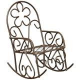 Darice Metal Rocking Chair, Rusty Color (Color: Rusty Color)