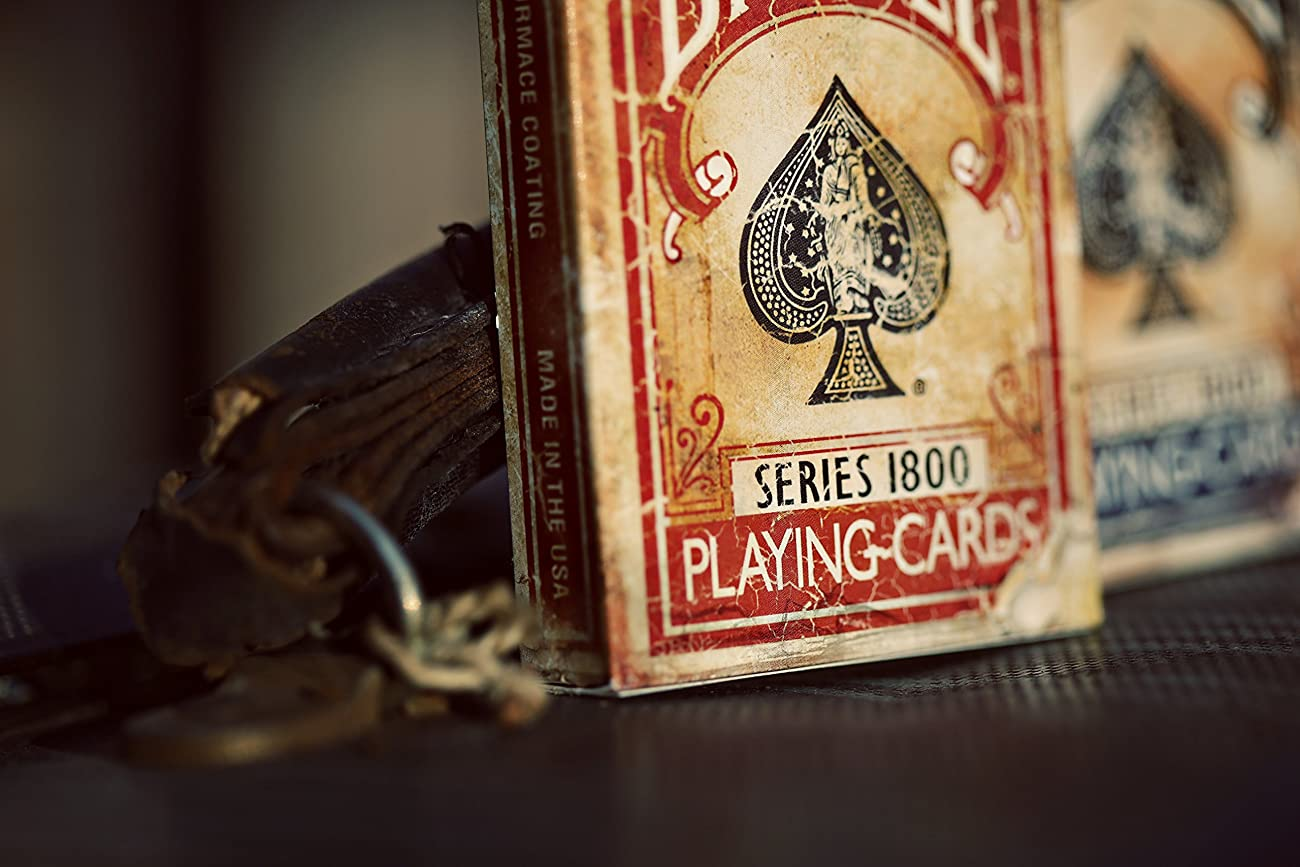 Bicycle 1800 Vintage Series Playing Cards by Ellusionist (Red) 6