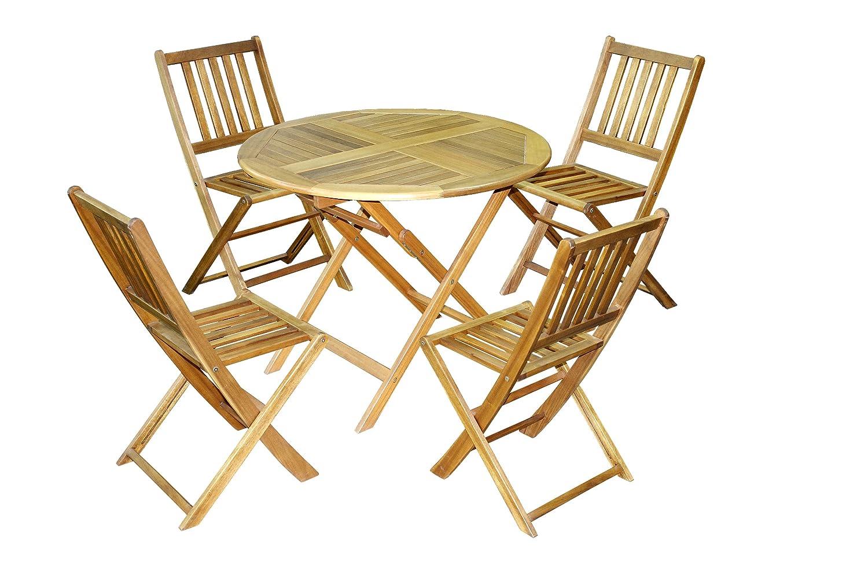 Brema 052140 Balkonset San Ramon 5-teilig Akazienholz, bestehend aus 4 Klappstühlen und 1 Klapptisch online kaufen