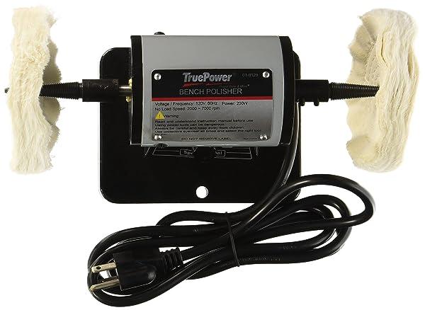 Gino Development 01-0129 TruePower Mini Bench Polishing Machine, Buffer, Polisher, 5 (Tamaño: 5)