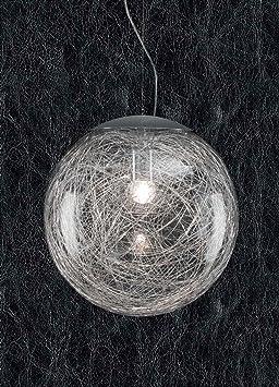 Trieste Lampadario a sospensione vetro soffiato trasparente sfera
