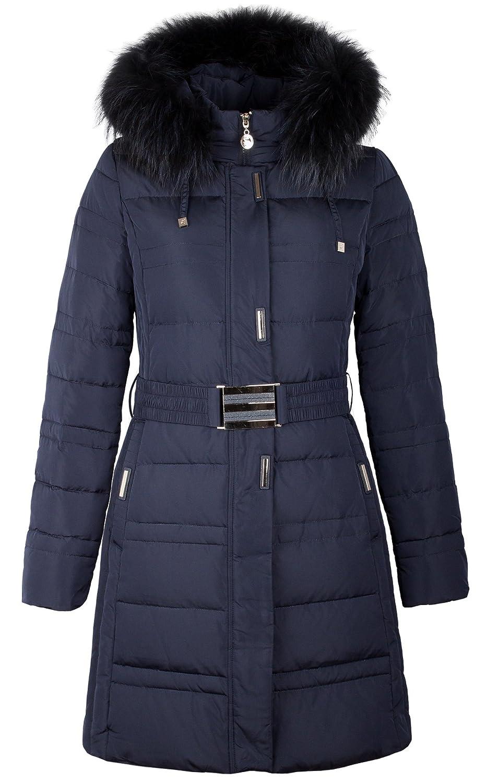 """8035 Damen Daunenjacke """"OLANMEAR"""" mit Echtfellkapuze blau online kaufen"""