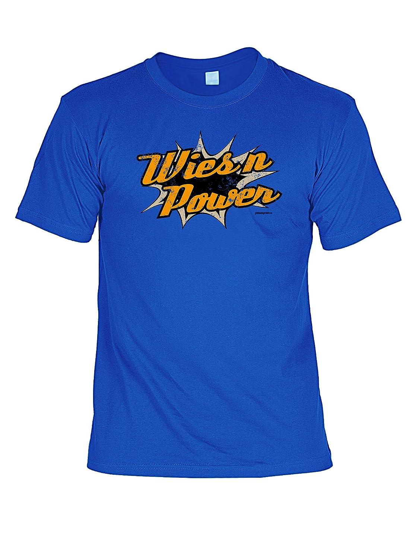 Volksfest T-Shirt Wiesn Power Wiesn 2015 Tracht T-Shirt zur Lederhosn Volksfest Trachten Outfit Farbe: royal-blau günstig online kaufen