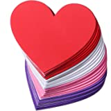 24 Piece 6 Inches Heart Foam Stickers Large Heart Shaped Stickers Self Adhesive Heart Stickers for Valentine Mother's Day DIY Craft, 4 Colors(Pink, Red, White, Purple) (Color: Pink, Red, White, Purple)
