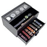 Caddy Bay Collection Watch Box w/Removable Watch Band Display Case & Valet Tray Holds 5 Watches - Black (Color: Black)