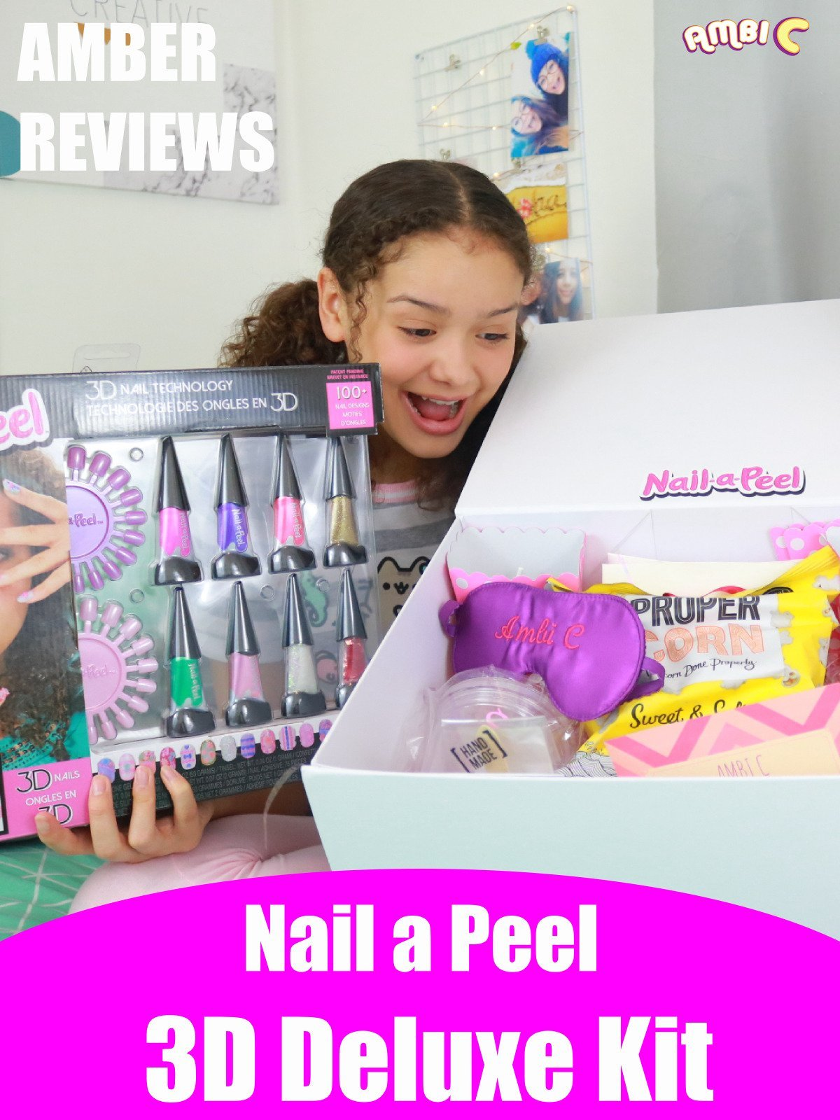 Amber Reviews Nail a Peel 3D Deluxe Kit
