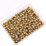 500 Pack Map Push Pins Map Tacks 1/8 Inch Small Size (Gold) (Color: Gold, Tamaño: 1/ 8 Inch)