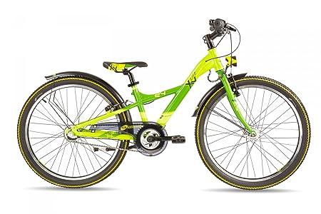 """s'cool XXlite pro 24-3 - Vélo enfant - 24"""" jaune/vert 2016 velo 24 pouces"""