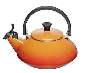 Le Creuset Flame Enamel On Steel Zen Tea Kettle, 1.5 Quart