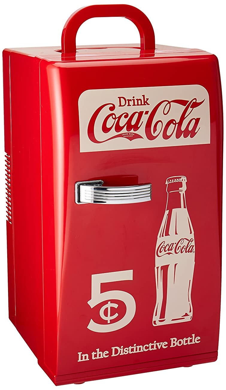 Coca Cola CCR-12 Retro Fridge, Red 0
