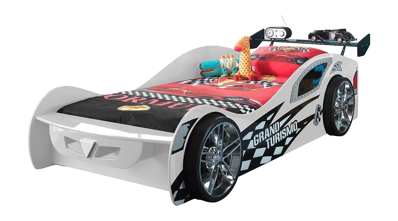 VIPACK SCGT200W Grand Turismo, circa 229 x 65 x 110 cm, Liegefläche 90 x 200 cm, lackiert aufgedruckte Rennwagen-Optik, weiß kaufen