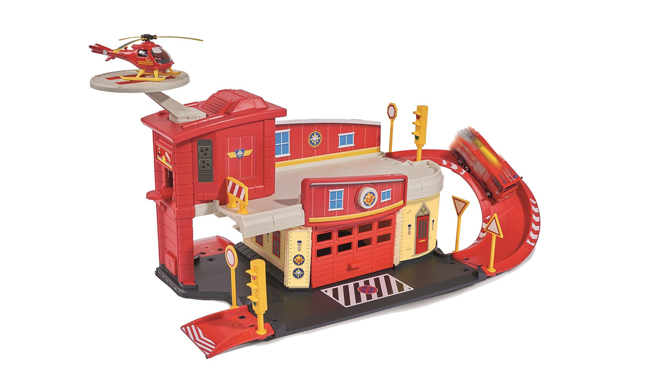 fireman sam fire rescue centre standard packaging dickie toys ebay. Black Bedroom Furniture Sets. Home Design Ideas