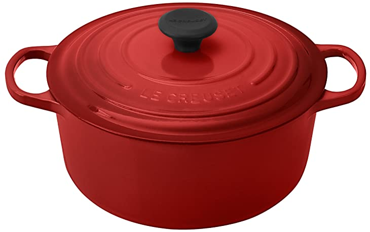 Le Creuset Signature Enameled Cast-Iron 5-1/2-Quart Round French (Dutch) Oven