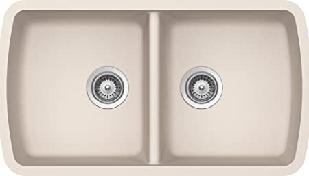 SCHOCK SOLN200U026 SOLIDO Series CRISTALITE 50/50 Undermount Double Bowl Kitchen Sink, Everest