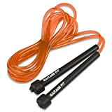 Garage Fit 9' PVC Jump Rope for Cardio Fitness - Great for both kids and adults … (Orange) (Color: Orange)